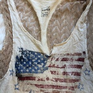 We The Free Tops - Free People We the Free American flag tank w/lace